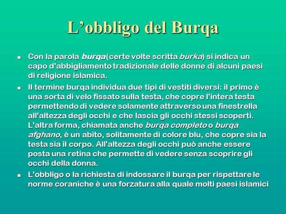 L'obbligo del Burqa