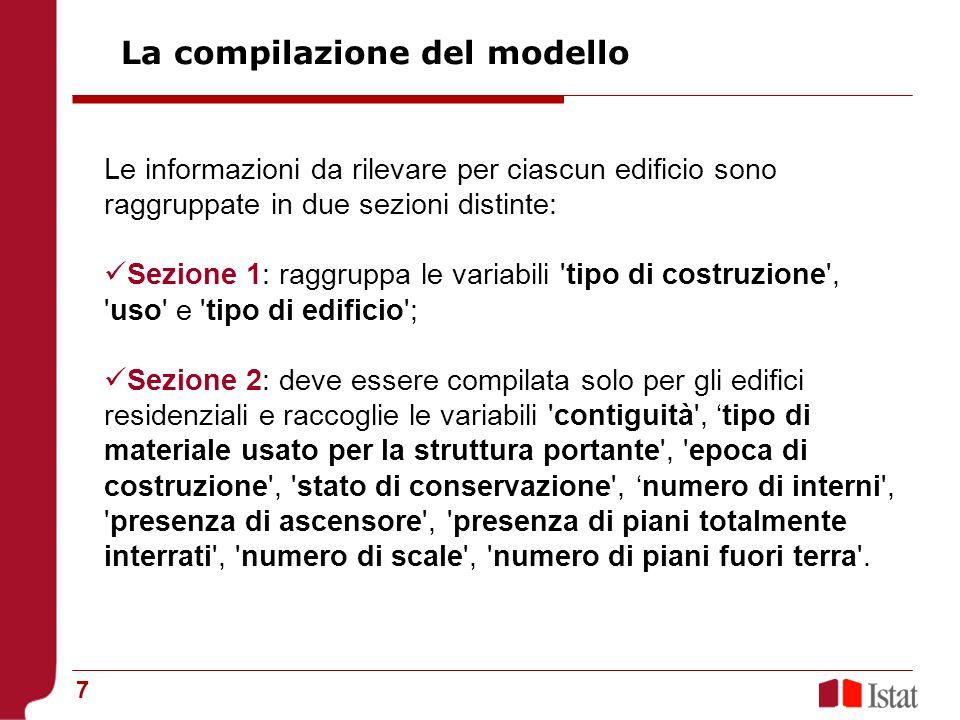 La compilazione del modello