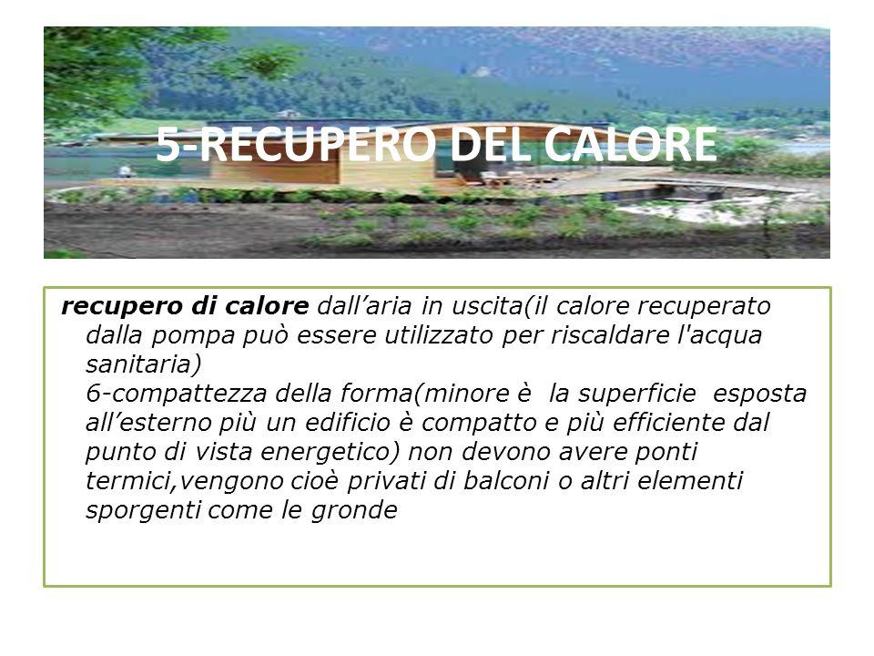 5-RECUPERO DEL CALORE