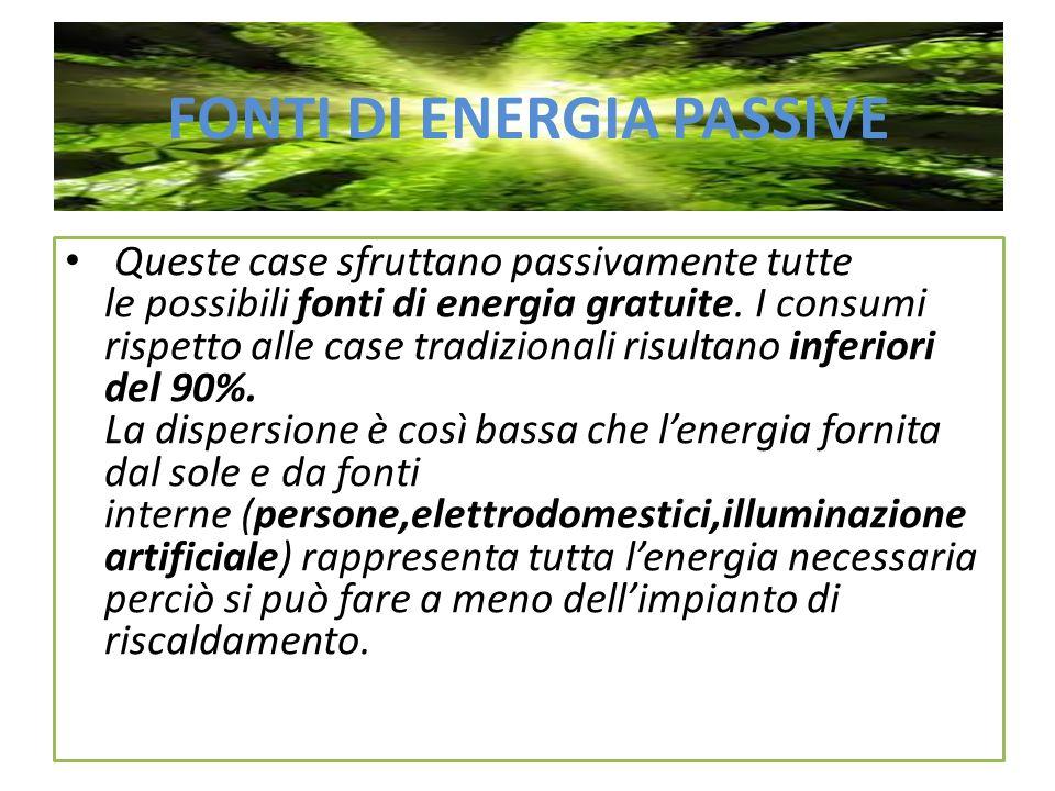 FONTI DI ENERGIA PASSIVE