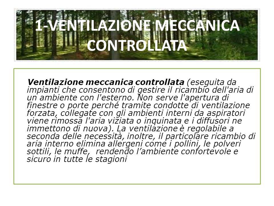 1-VENTILAZIONE MECCANICA CONTROLLATA