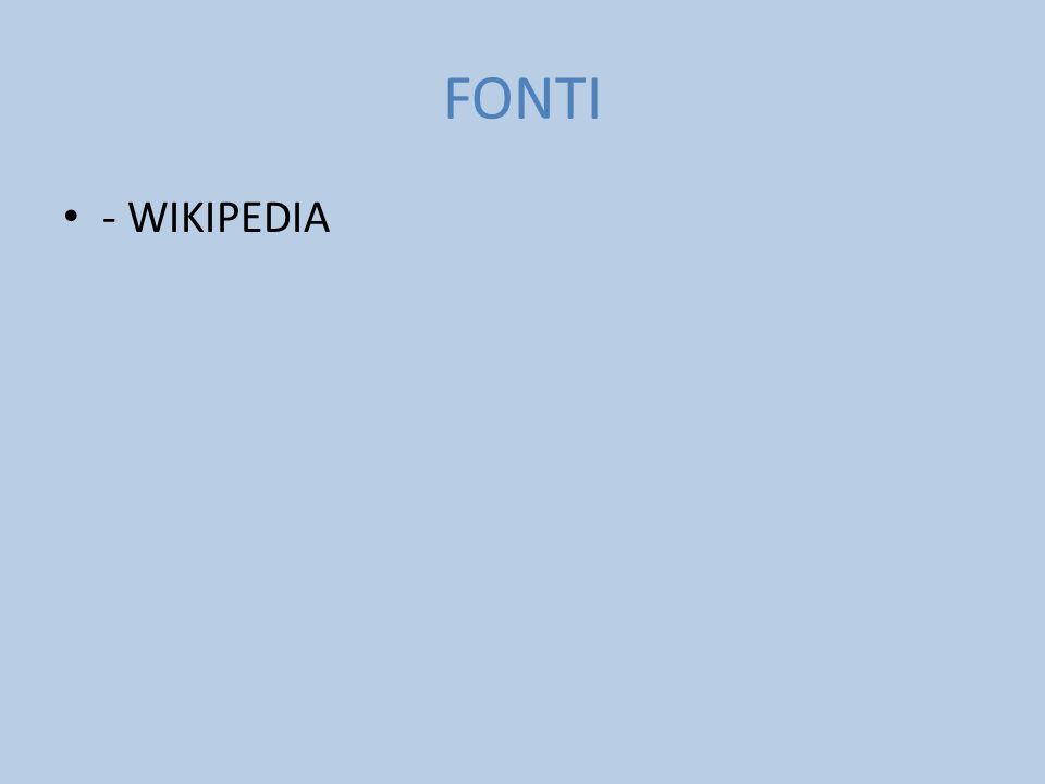 FONTI - WIKIPEDIA