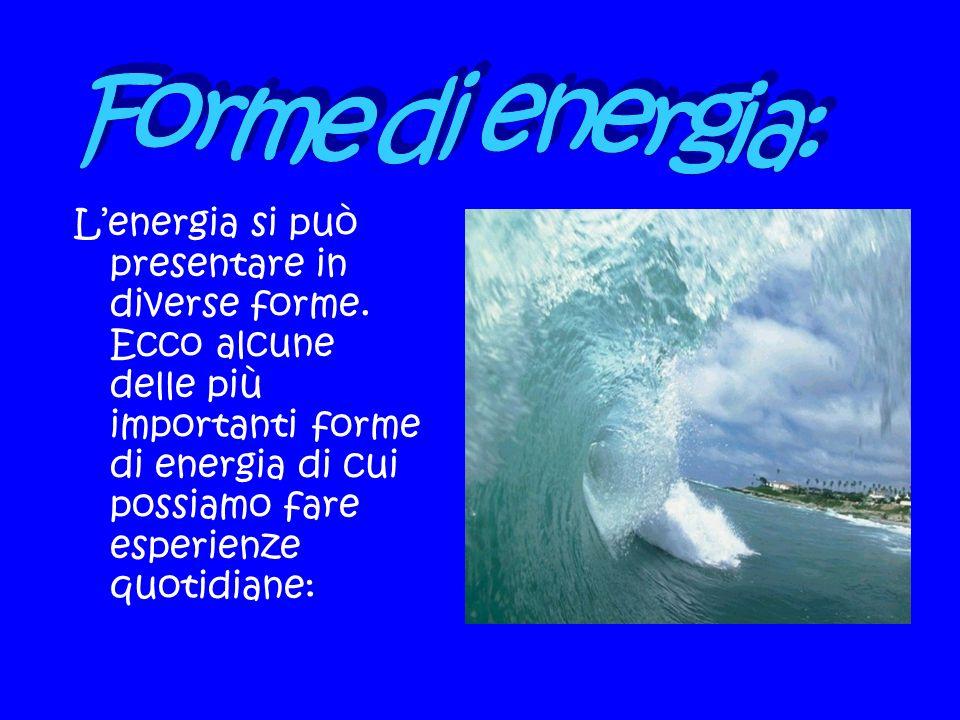 Forme di energia: