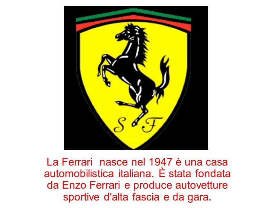 La Ferrari nasce nel 1947 è una casa automobilistica italiana