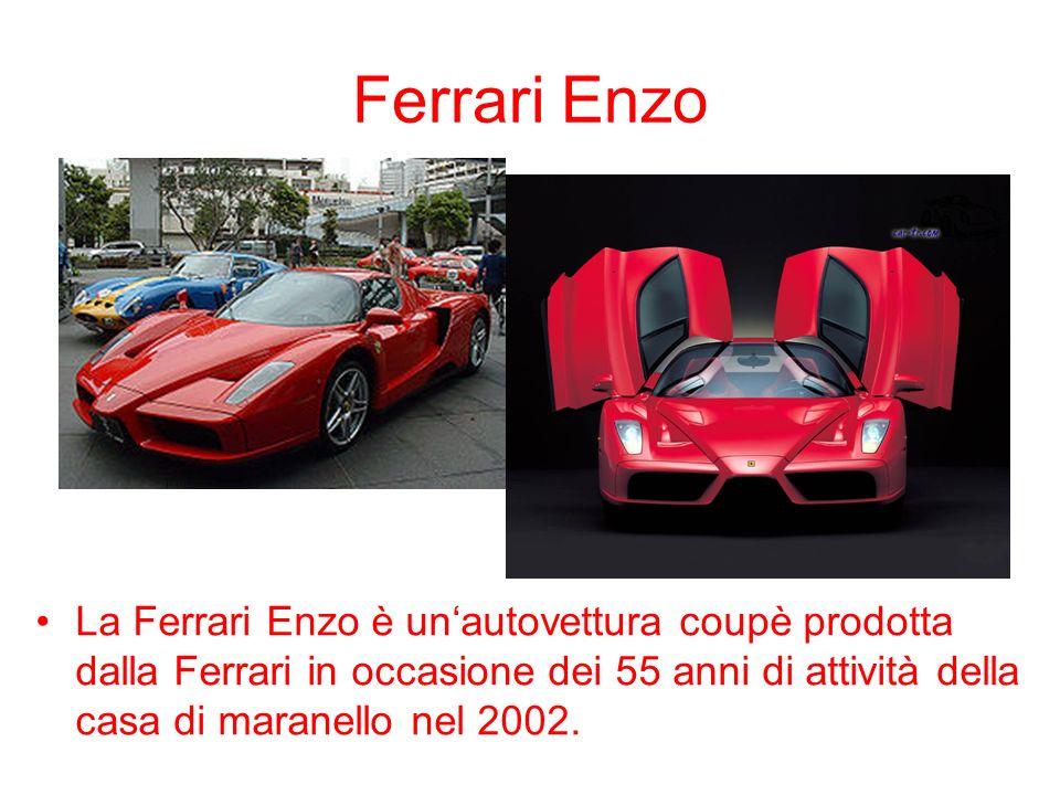 Ferrari EnzoLa Ferrari Enzo è un'autovettura coupè prodotta dalla Ferrari in occasione dei 55 anni di attività della casa di maranello nel 2002.