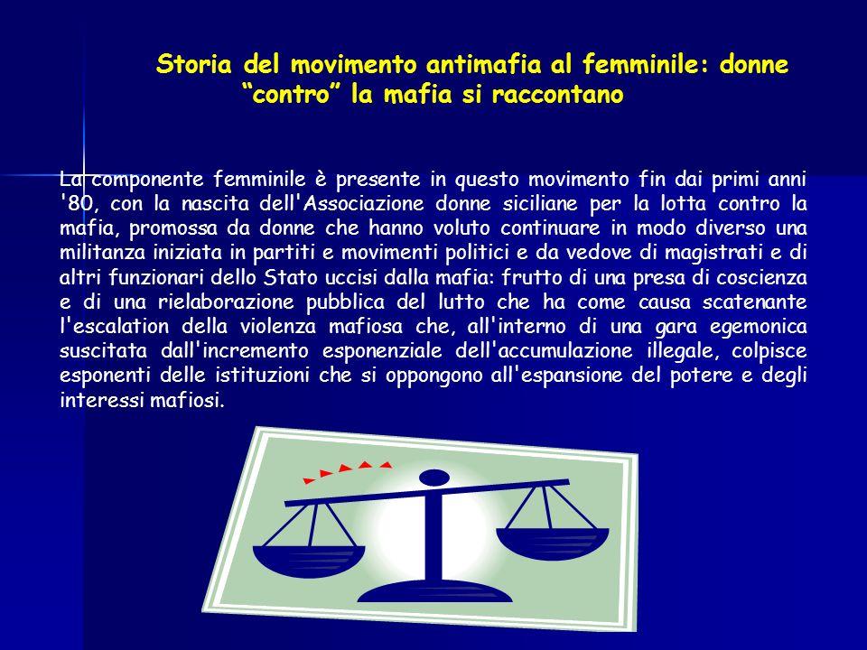 Storia del movimento antimafia al femminile: donne contro la mafia si raccontano