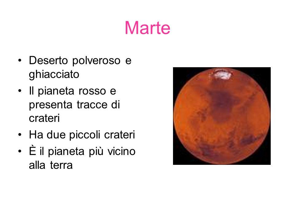Marte Deserto polveroso e ghiacciato