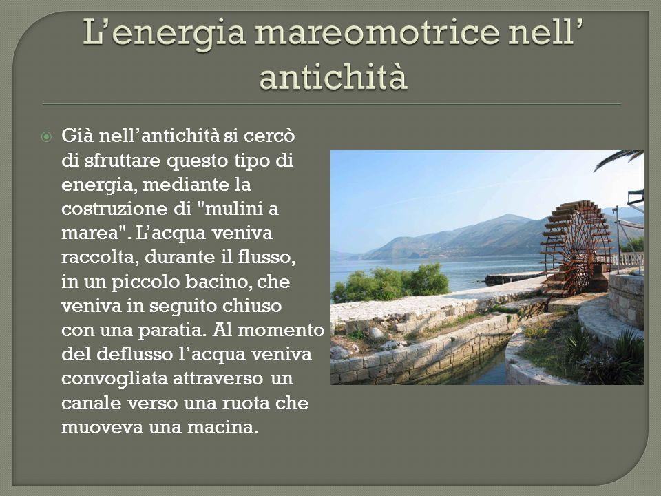 L'energia mareomotrice nell' antichità