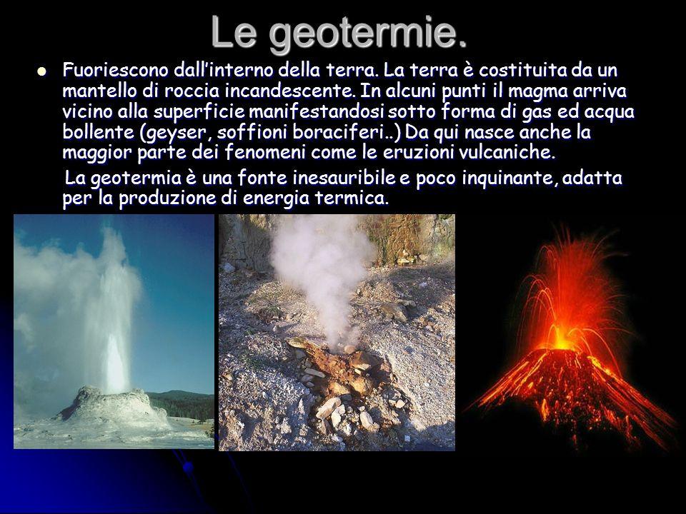 Le geotermie.