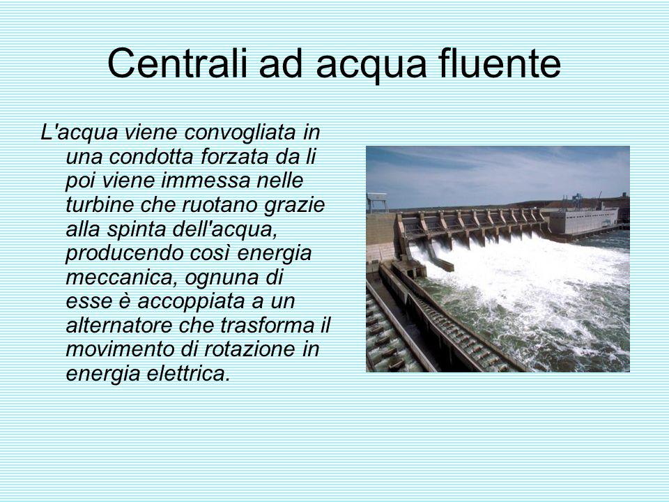Centrali ad acqua fluente