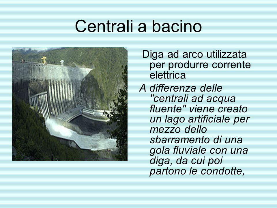 Centrali a bacino Diga ad arco utilizzata per produrre corrente elettrica.