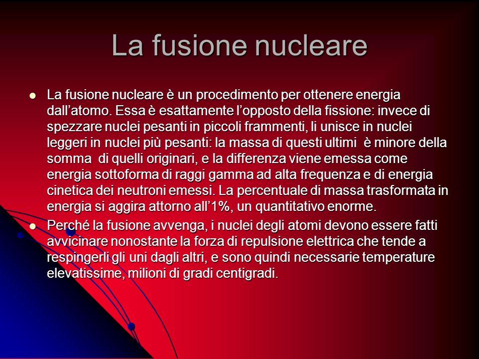 La fusione nucleare