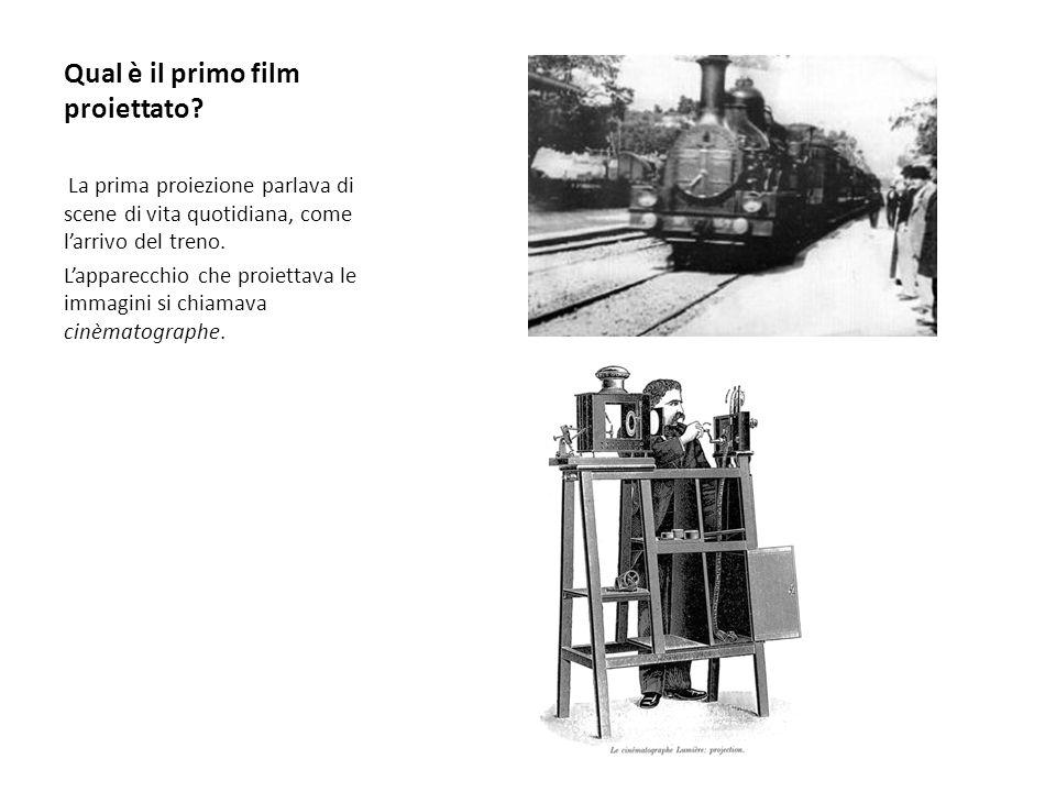 Qual è il primo film proiettato