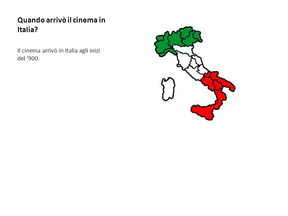 Quando arrivò il cinema in Italia