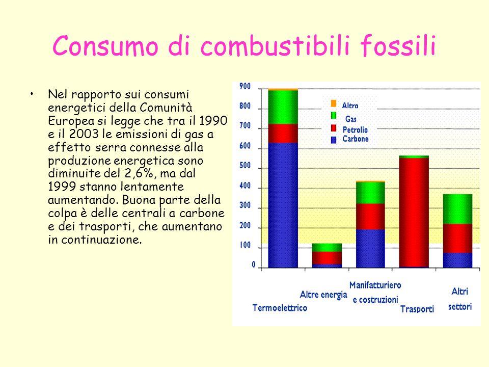 Consumo di combustibili fossili