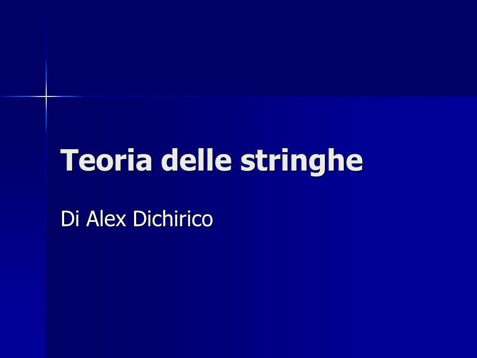 Teoria delle stringhe Di Alex Dichirico