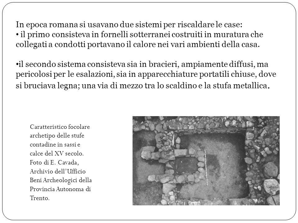 In epoca romana si usavano due sistemi per riscaldare le case: