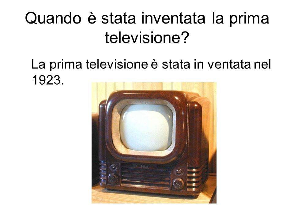 Quando è stata inventata la prima televisione