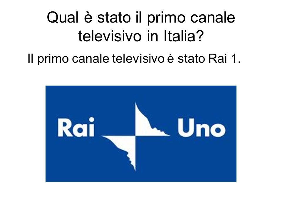 Qual è stato il primo canale televisivo in Italia
