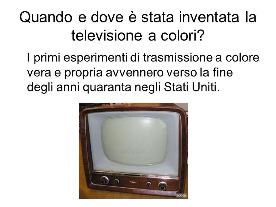 Quando e dove è stata inventata la televisione a colori