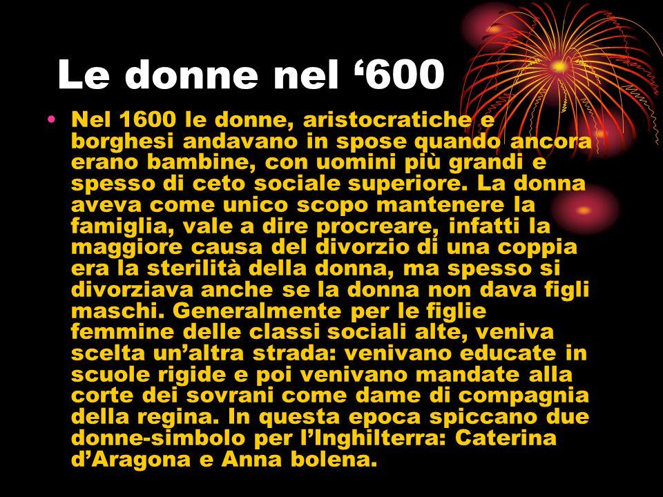 Le donne nel '600