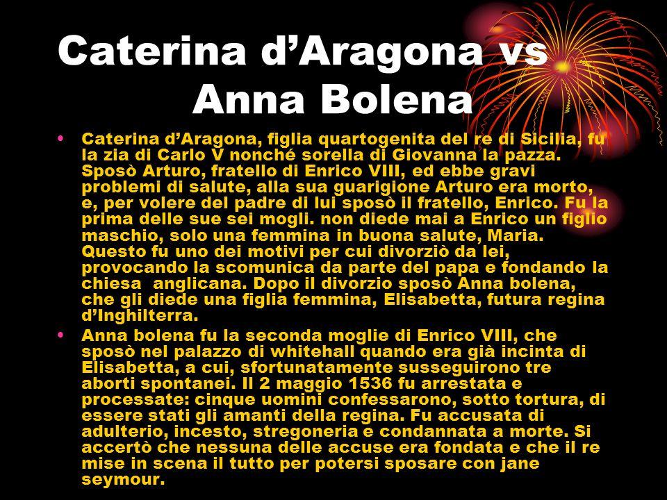 Caterina d'Aragona vs Anna Bolena