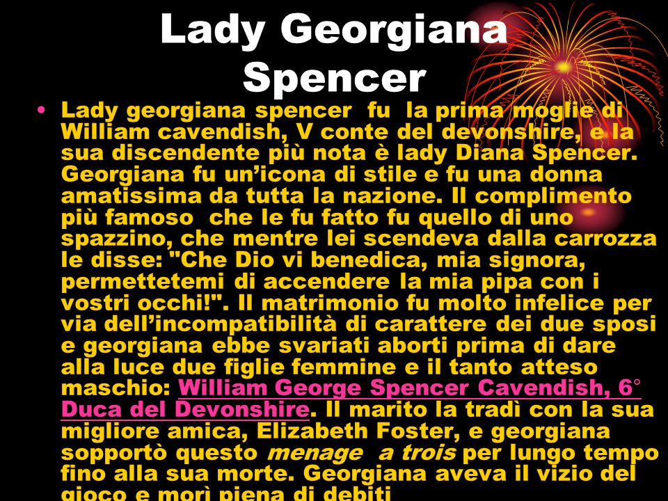 Lady Georgiana Spencer