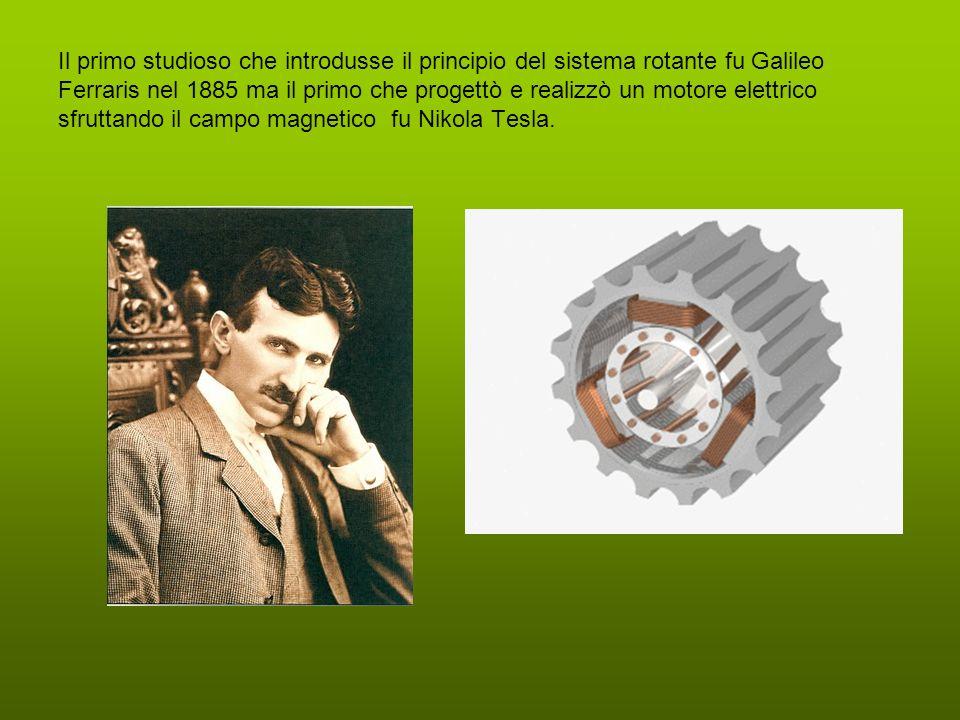 Il primo studioso che introdusse il principio del sistema rotante fu Galileo Ferraris nel 1885 ma il primo che progettò e realizzò un motore elettrico sfruttando il campo magnetico fu Nikola Tesla.