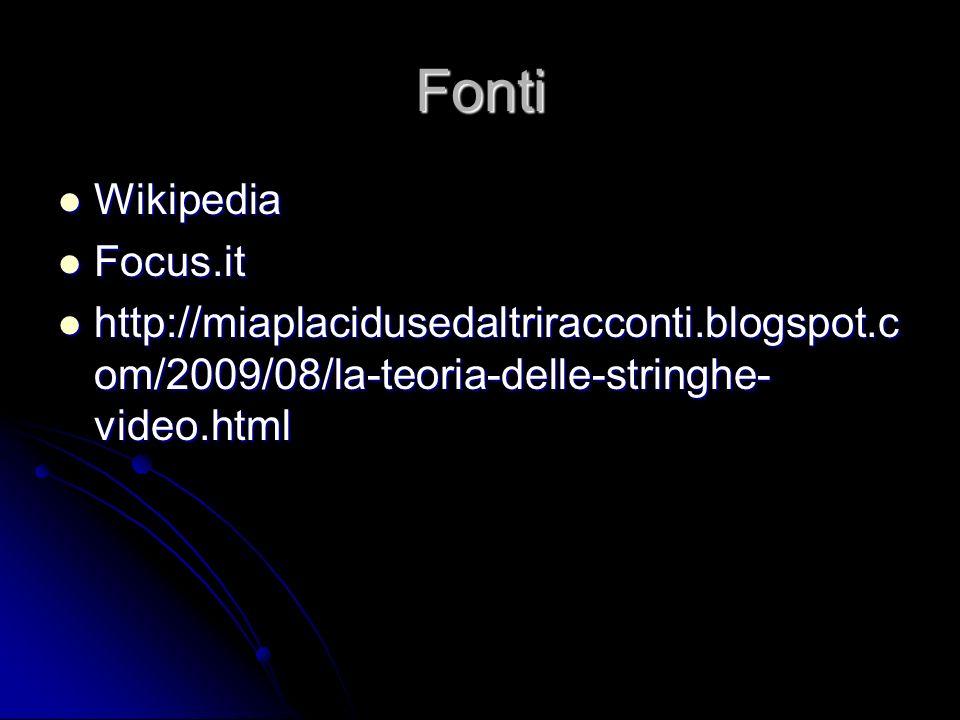 Fonti Wikipedia Focus.it