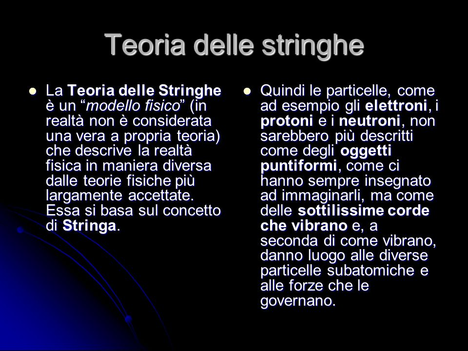 Teoria delle stringhe