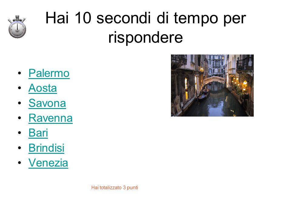 Hai 10 secondi di tempo per rispondere