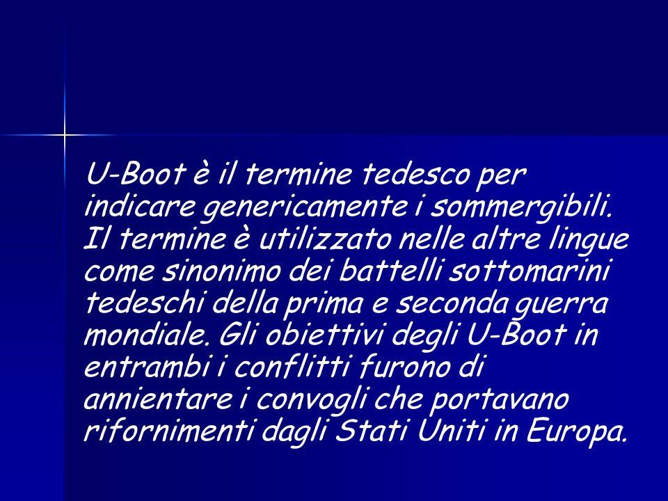 U-Boot è il termine tedesco per indicare genericamente i sommergibili