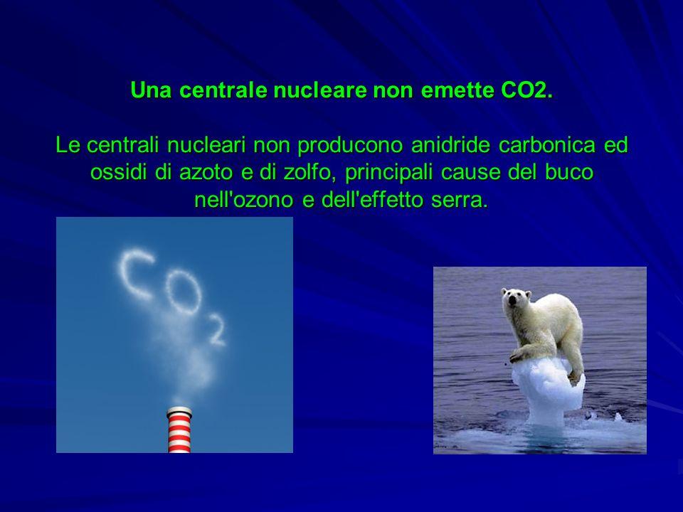 Una centrale nucleare non emette CO2