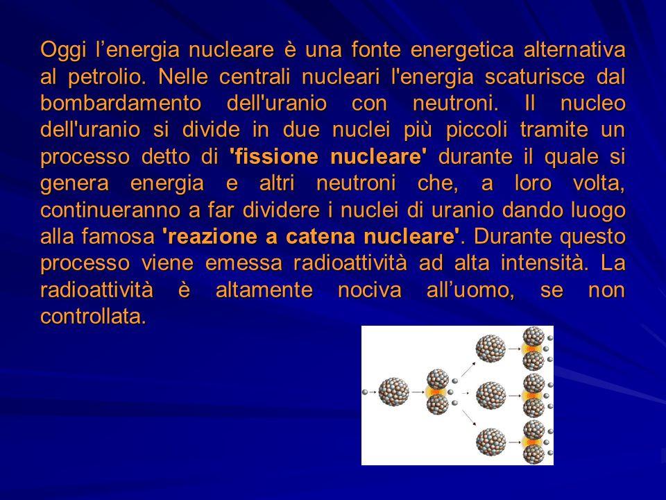 Oggi l'energia nucleare è una fonte energetica alternativa al petrolio