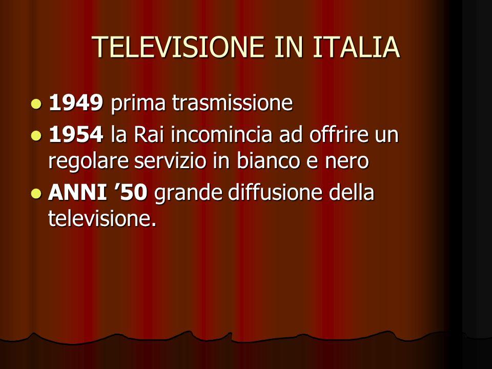 TELEVISIONE IN ITALIA 1949 prima trasmissione