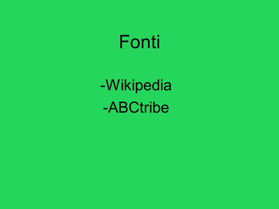 Fonti -Wikipedia -ABCtribe