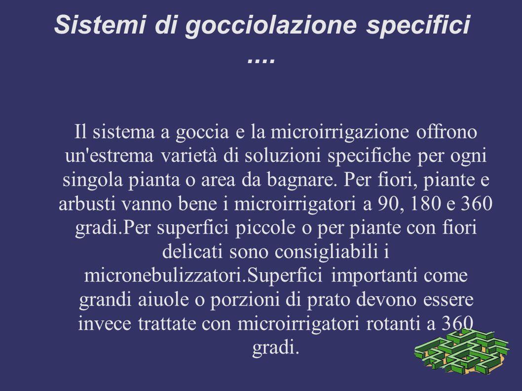 Sistemi di gocciolazione specifici ....