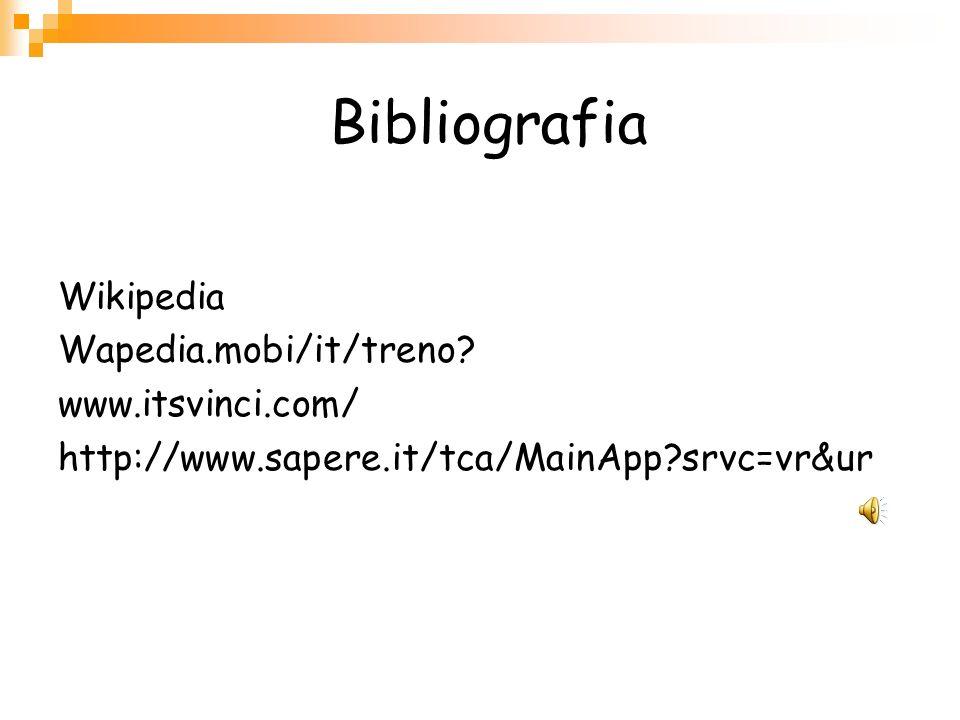 Bibliografia Wikipedia Wapedia.mobi/it/treno www.itsvinci.com/