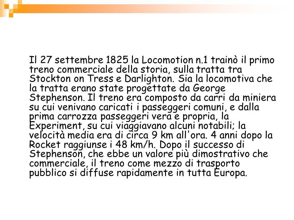 Il 27 settembre 1825 la Locomotion n