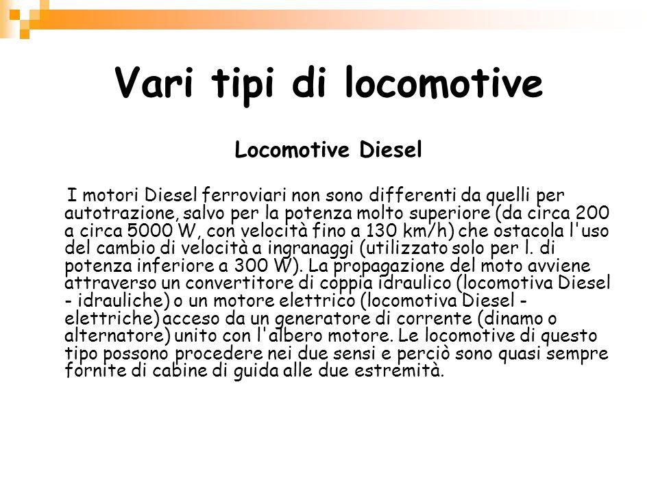 Vari tipi di locomotive