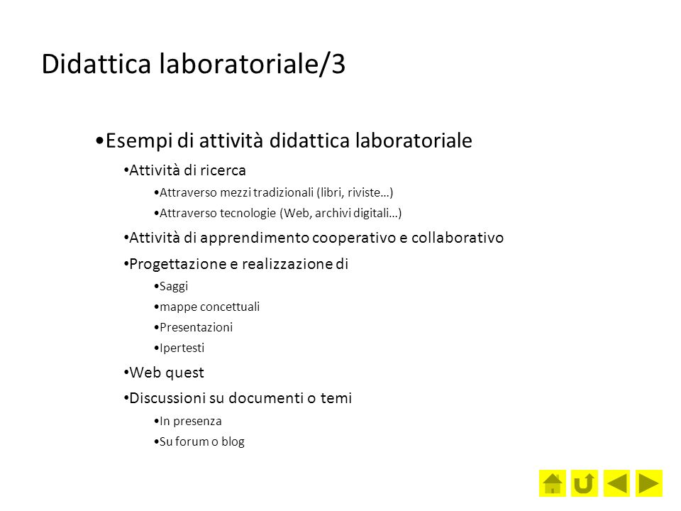 Didattica laboratoriale/3