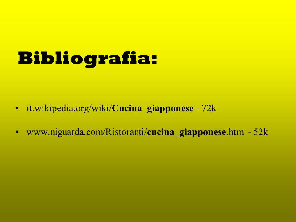 Bibliografia: it.wikipedia.org/wiki/Cucina_giapponese - 72k