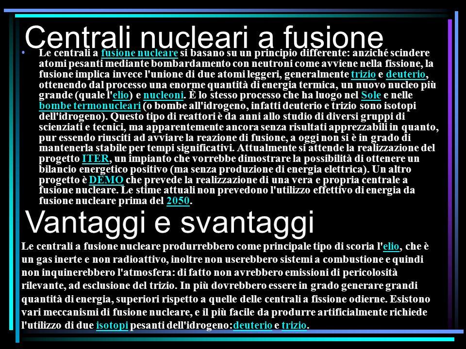 Centrali nucleari a fusione