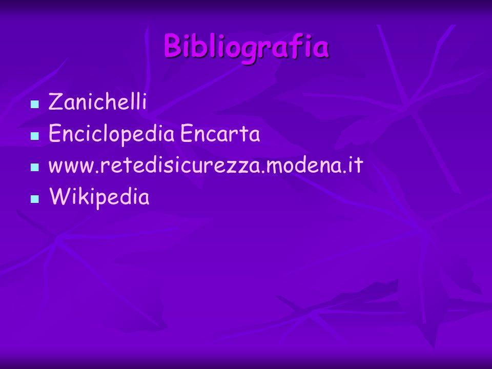 Bibliografia Zanichelli Enciclopedia Encarta