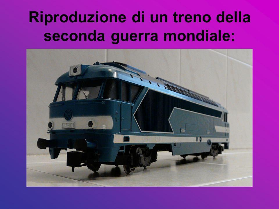 Riproduzione di un treno della seconda guerra mondiale: