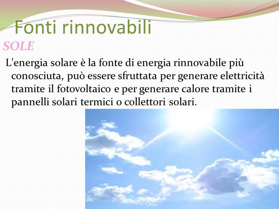 Fonti rinnovabili SOLE