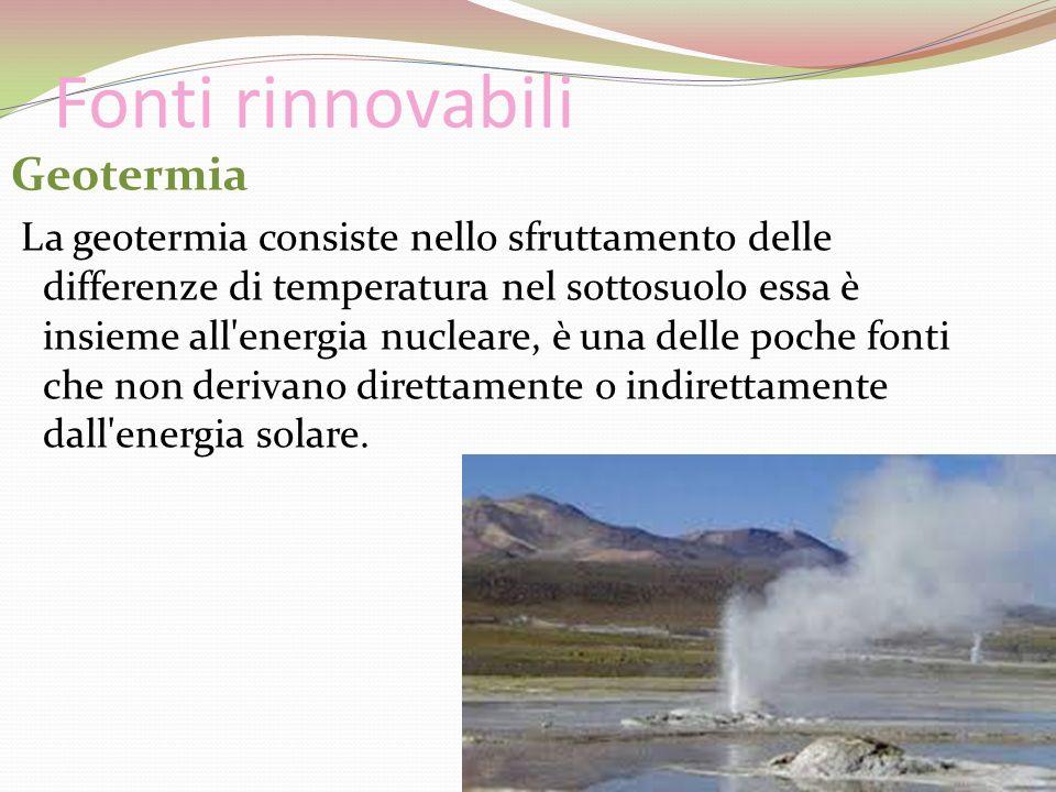Fonti rinnovabili Geotermia