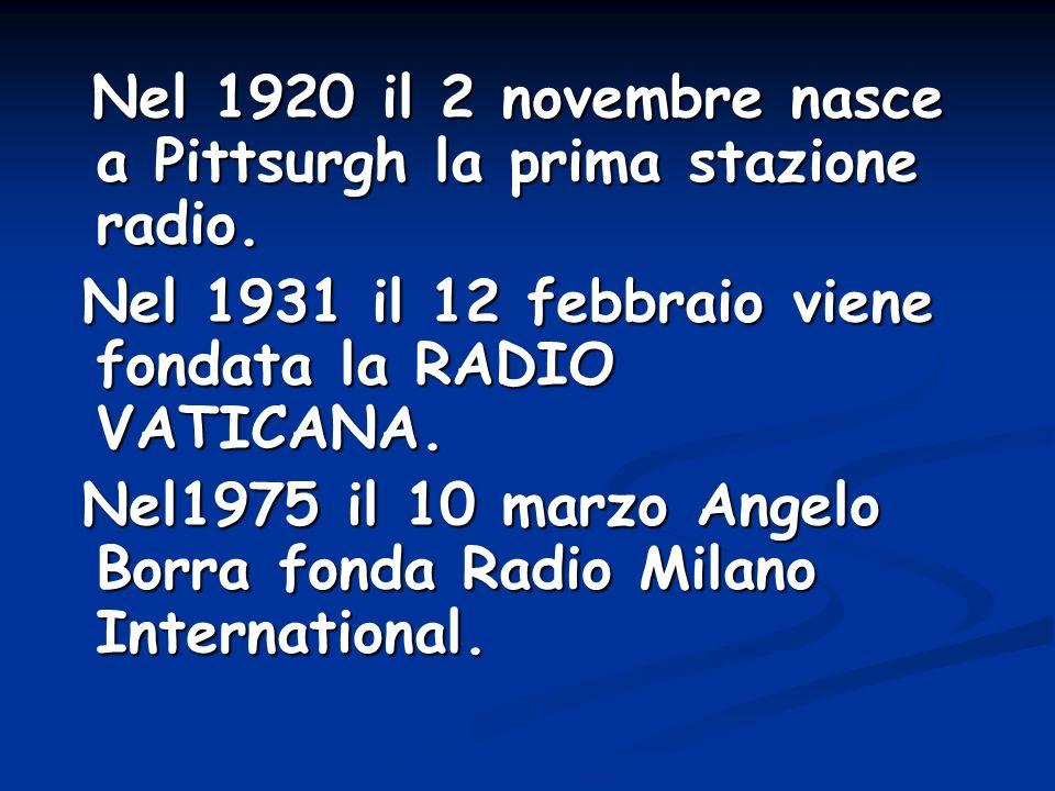 Nel 1931 il 12 febbraio viene fondata la RADIO VATICANA.