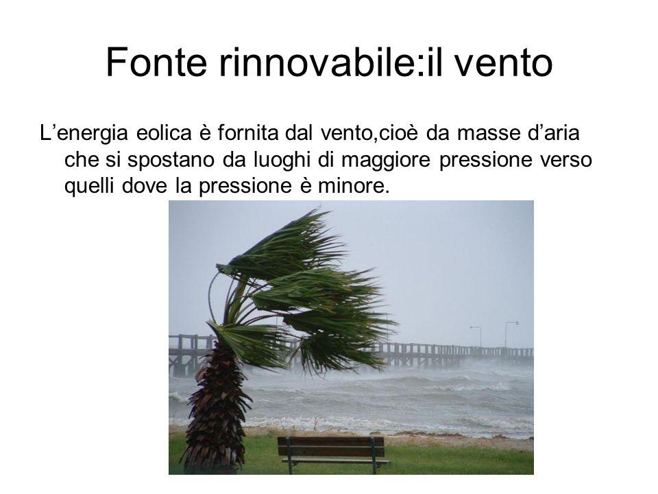Fonte rinnovabile:il vento