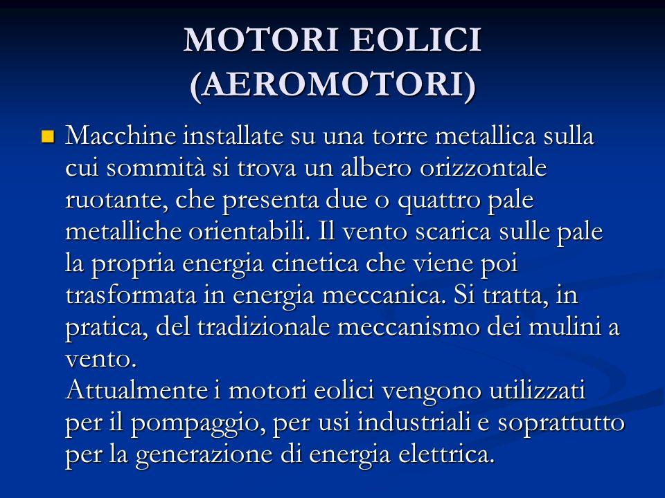 MOTORI EOLICI (AEROMOTORI)
